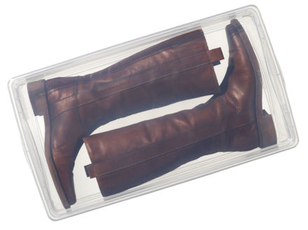 plastic storage boxes for knee length boots