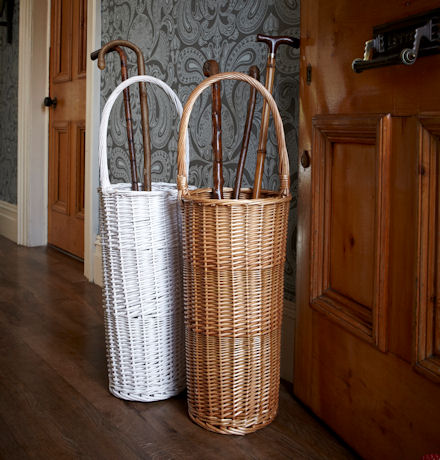 willow umbrella stand, great addition to your country cottage for extra storage in the hallway