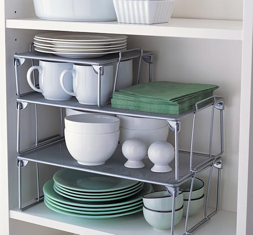 Stacking Plate Rack & STORE | Small Mesh Stacking Shelf