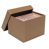 Faux Leather DVD Storage Box