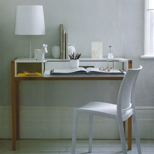 farringdon desk...great small desk for those with storage space issues John Lewis