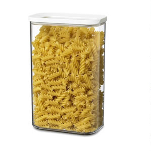 2000ml kitchen storage canister shown far right of photo storing pasta