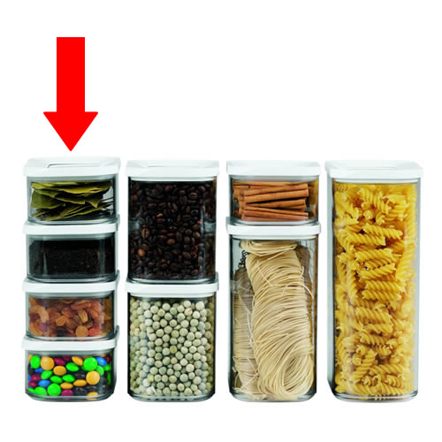 Clear Kitchen Storage Canister - 425ml