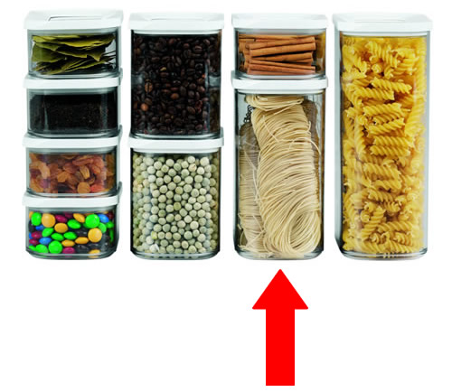 clear plastic kitchen storage cannisters - Kitchen Storage Containers