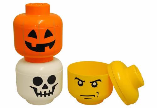 Giant LEGO Storage Figure Head - Halloween Skeleton
