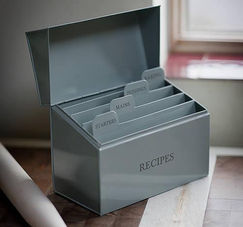 Recipes Boxes Cards Recipe Card Metal Storage Box