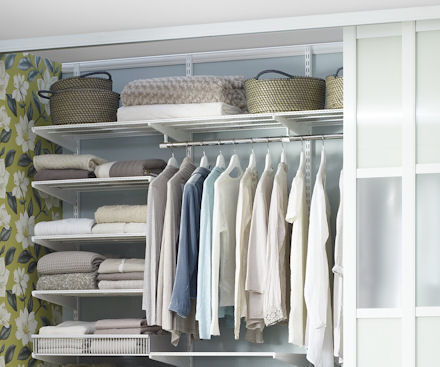 90cm long x 50cm deep elfa white ventilated shelf