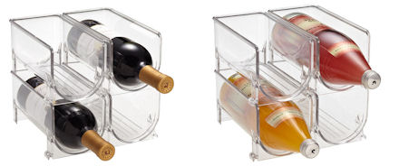 in fridge wine rack / bottle storage solution