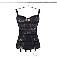 Little Black Corset - Hanging Jewellery Organiser