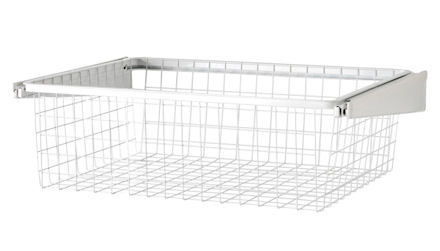 45cm Gliding Elfa Drawer & Basket - Shallow White