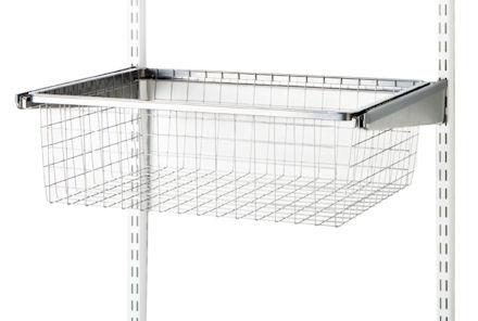 45cm Gliding Elfa Drawer & Basket - Medium Platinum