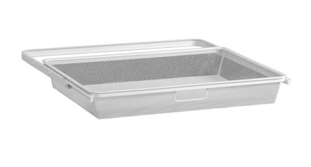 45cm Mesh Gliding Elfa Drawer & Basket - Shallow White