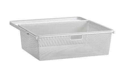 mesh elfa baskets white and integrated drawer frame