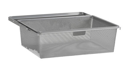 45cm Mesh Gliding Elfa Drawer & Basket - Medium Platinum