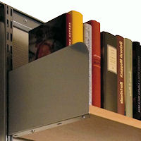 Elfa Library Style Book Supports