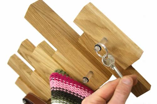 oak coat hook for a tidy hall