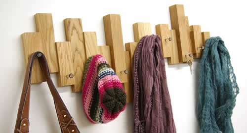 solid oak coat hooks for better hallway storage - Coat Hooks With Storage