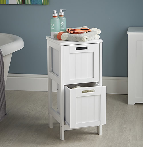 2 drawer shaker storage cabinet