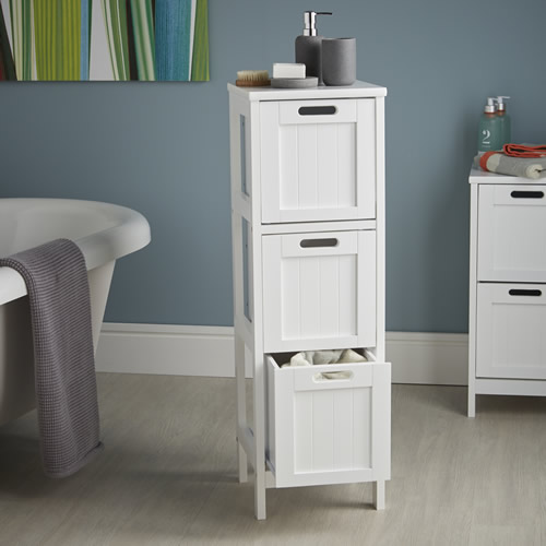 3 drawer shaker style storage cabinet