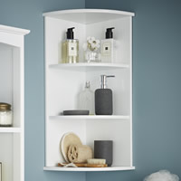 3-Tier Shaker Corner Shelf