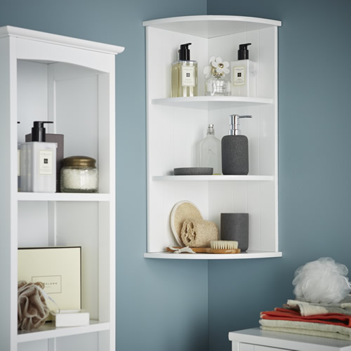 Store 3 Tier Shaker Corner Shelf