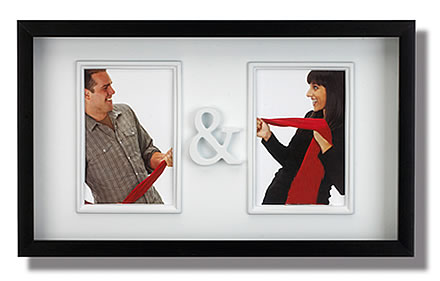 Couples photo frame to store two photos