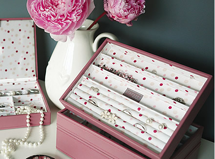 Ring and bracelet Stacker jewellery storage box