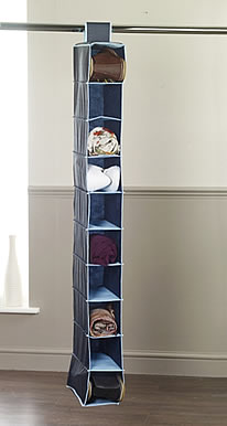 Hanging shoe organiser blue