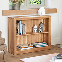 Solid Oak Book Case - Mobel