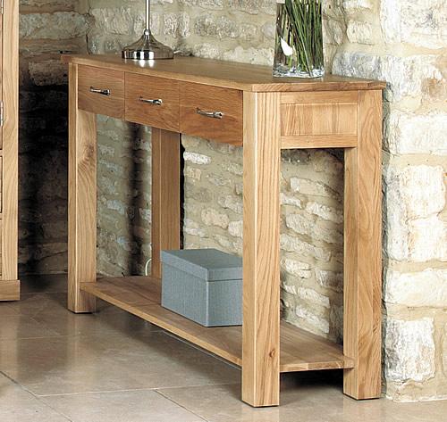 Solid Oak Console Table - Mobel