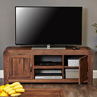 Solid Walnut Widescreen TV Unit - Shiro