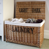 Wicker Laundry Sorter Hamper