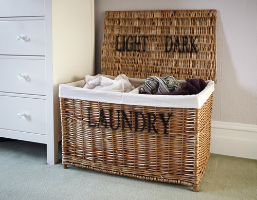 Lights and darks laundry hamper / basket