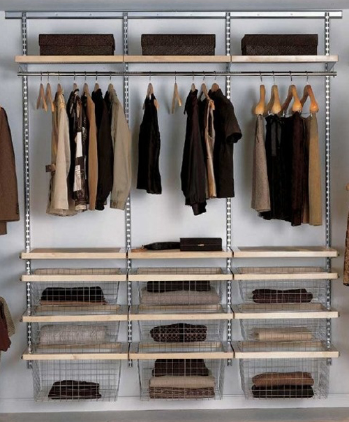 wardrobe interiors and modular shelving & storage solutions from elfa
