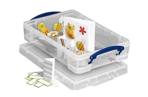 Craft storage box with clip close handles - Really Useful Boxes
