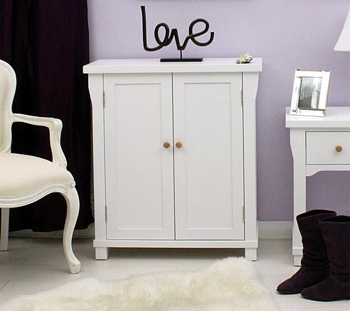 Stylish White Shoe Cupboard