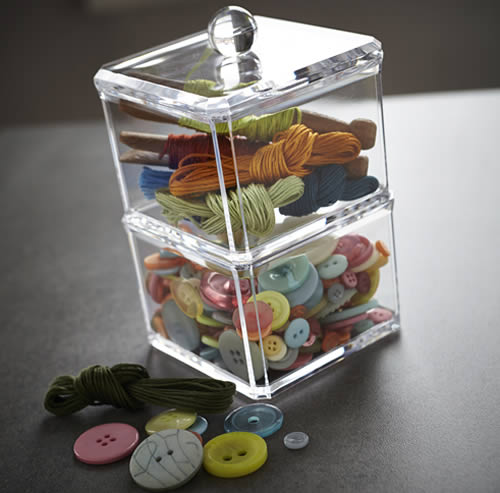 Stacking Craft Storage Boxes - Acrylic