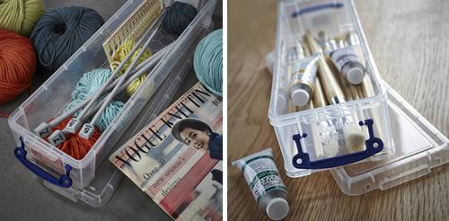 paint brush / knitting needle storage box