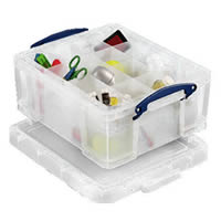 21 Litre Craft Storage Box with 2 Divider Trays