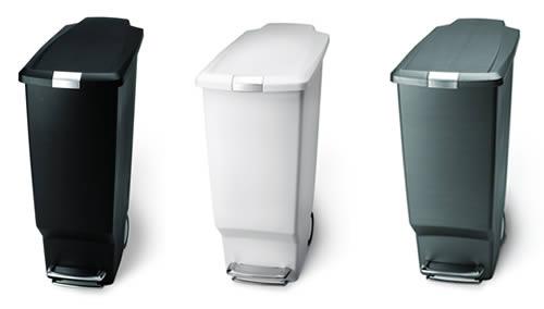 space-saving kitchen pedal bin