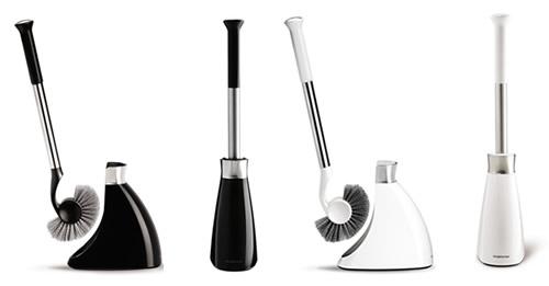 Slim toilet brush available in black or white