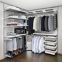 Elfa dressing room best selling solution in platinum and white