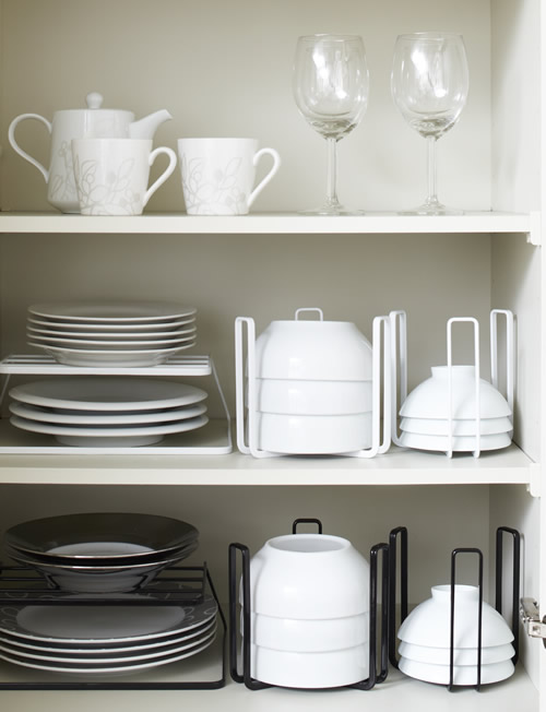 amazing Kitchen Cabinet Organisers #10: Bowl Storage Tower Large