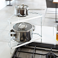 Corner Pan Storage Rack