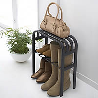 Shoe storage rack and bench