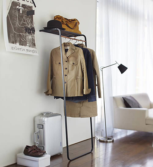 Free Standing Coat Stand With Storage Shelf