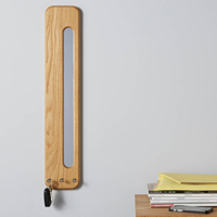 Vertical Oak Key Rack & Mini Mirror
