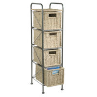 4 Drawer Seagrass Unit