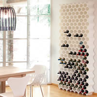 Honeycomb Wine Bottle Rack - White