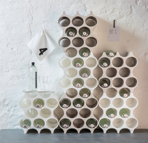modular wine rack...each unit holds 10 bottles